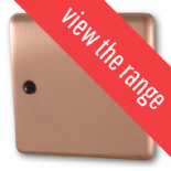Standard Plate Rose Gold Fan Isolator Switches